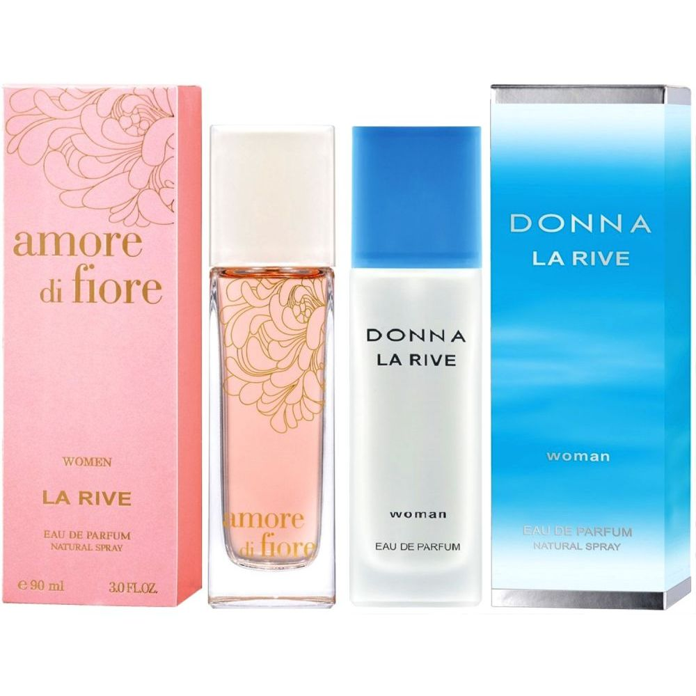 La Rive Amore Di Fiore 90 Ml Edp Donna Set Bei Larive In Woman 90ml Eau De Parfum